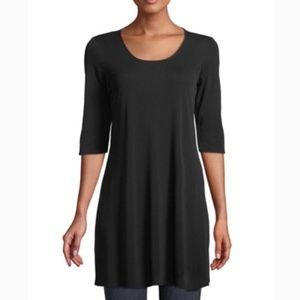Eileen Fisher Half Sleeve Tunic Swing Top